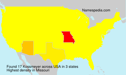 Surname Kossmeyer in USA