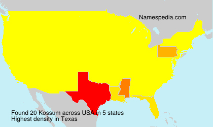 Surname Kossum in USA