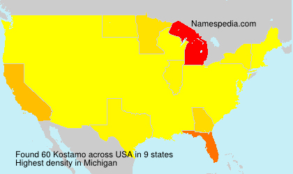 Surname Kostamo in USA