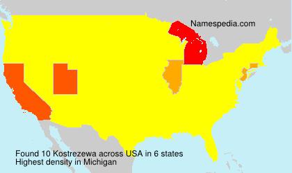 Surname Kostrezewa in USA