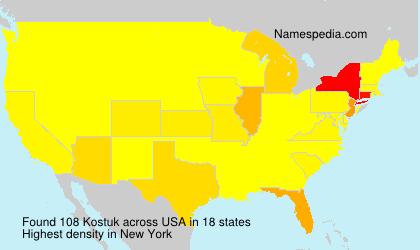 Surname Kostuk in USA