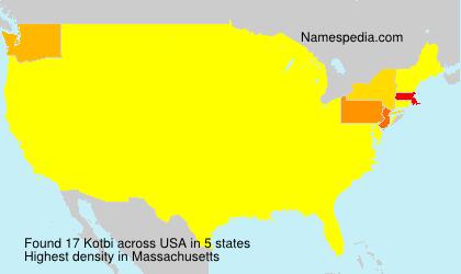 Familiennamen Kotbi - USA