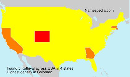 Familiennamen Kothiyal - USA
