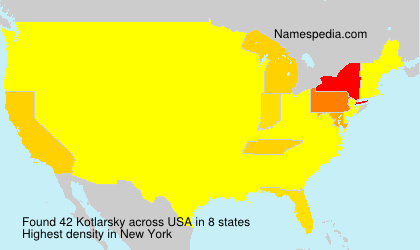Surname Kotlarsky in USA