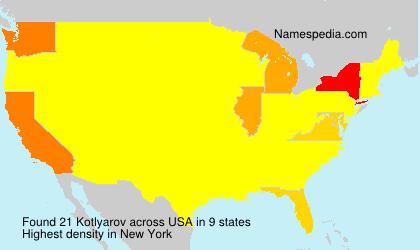 Familiennamen Kotlyarov - USA