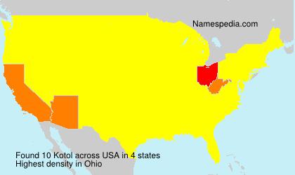 Surname Kotol in USA
