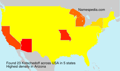 Surname Kotschedoff in USA