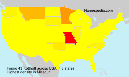Surname Kotthoff in USA