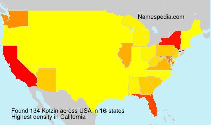 Surname Kotzin in USA