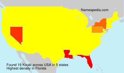 Familiennamen Koubi - USA