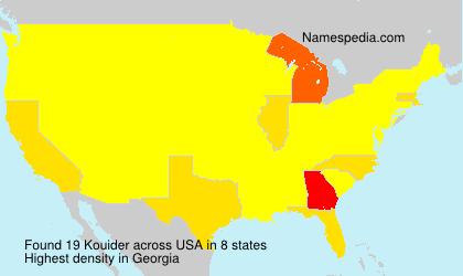 Surname Kouider in USA