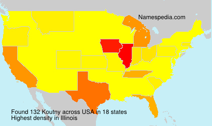 Surname Koutny in USA