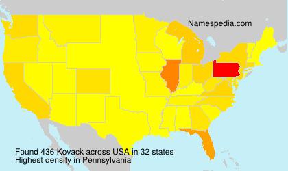 Surname Kovack in USA