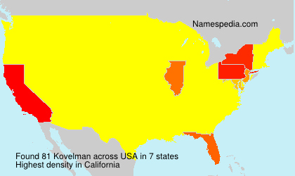 Surname Kovelman in USA