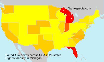 Familiennamen Koves - USA