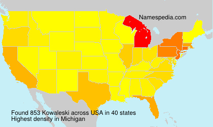 Surname Kowaleski in USA