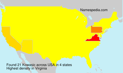 Surname Kowasic in USA