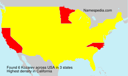 Surname Kozarev in USA