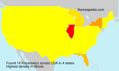 Surname Kozarewicz in USA