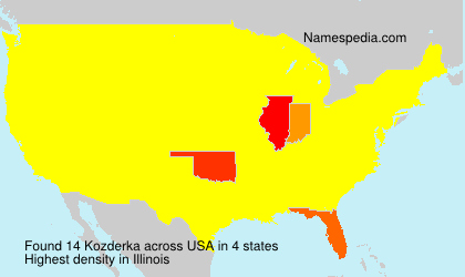 Surname Kozderka in USA