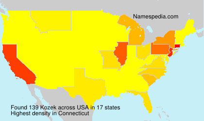 Surname Kozek in USA