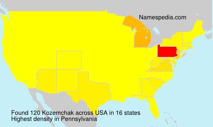 Familiennamen Kozemchak - USA