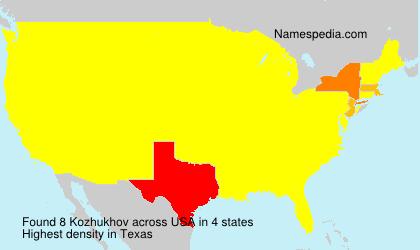 Familiennamen Kozhukhov - USA