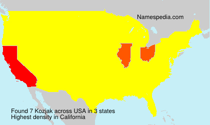 Surname Kozjak in USA
