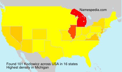 Surname Kozlowicz in USA