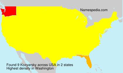 Surname Kozyarsky in USA