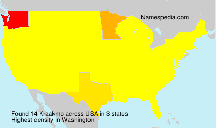 Surname Kraakmo in USA