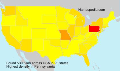 Surname Krah in USA