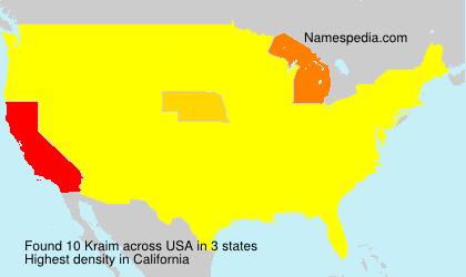 Familiennamen Kraim - USA