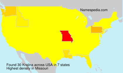 Surname Krajina in USA
