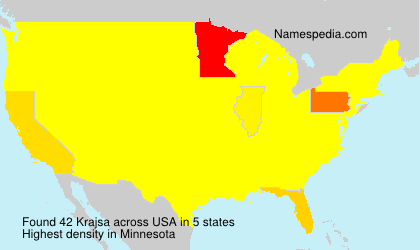 Surname Krajsa in USA