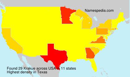 Surname Krakue in USA