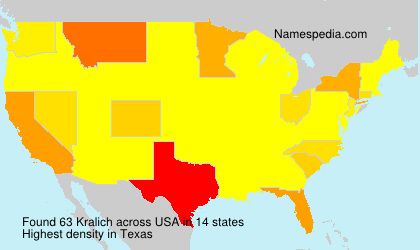 Surname Kralich in USA