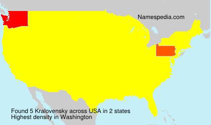 Surname Kralovensky in USA