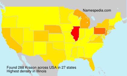 Surname Krason in USA