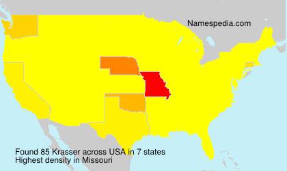Surname Krasser in USA