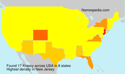 Surname Krassy in USA