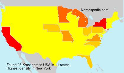 Surname Krast in USA