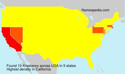 Surname Krastanov in USA