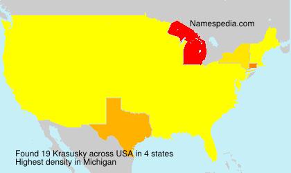 Familiennamen Krasusky - USA