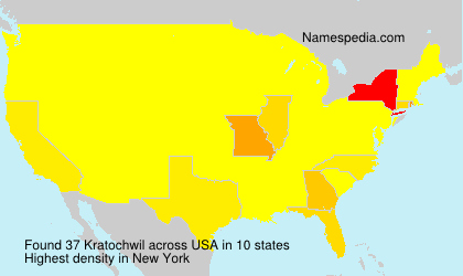 Surname Kratochwil in USA