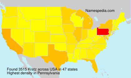 Familiennamen Kratz - USA