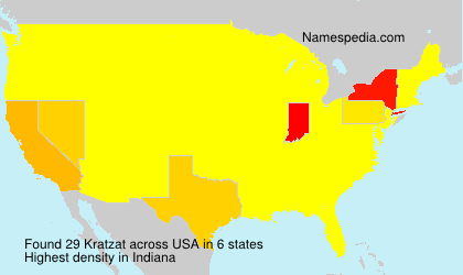 Surname Kratzat in USA
