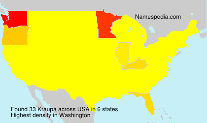 Surname Kraupa in USA