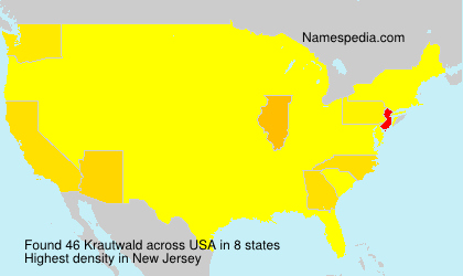 Surname Krautwald in USA