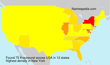Surname Krautwurst in USA